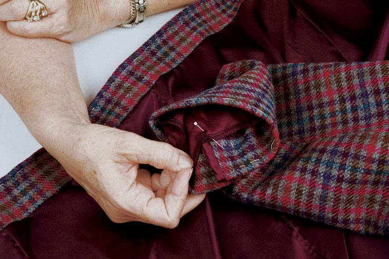 Secure jacket sleeve seam