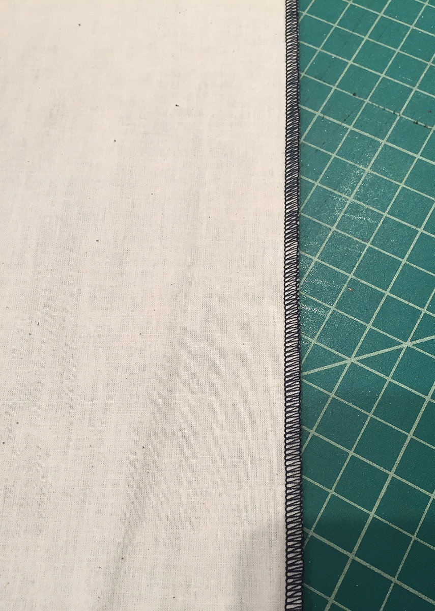 scarf with long edge finish