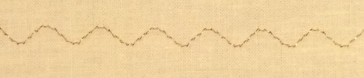 Metallic decorative stitch