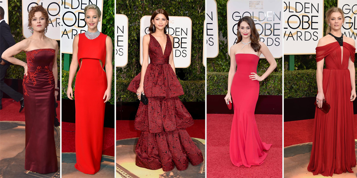 golden globes 2016 red gowns