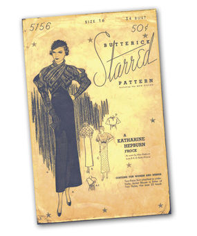 Butterick Starred Pattern 5156, A Katharine Hepburn Frock