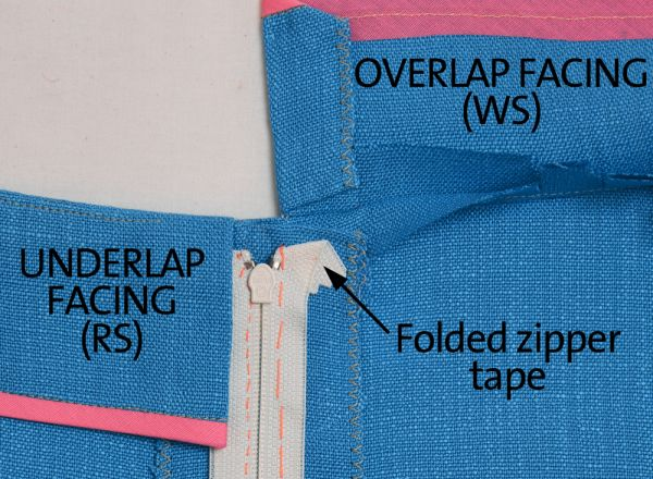 lapped zipper