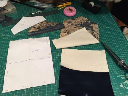 patternwork envelope clutch