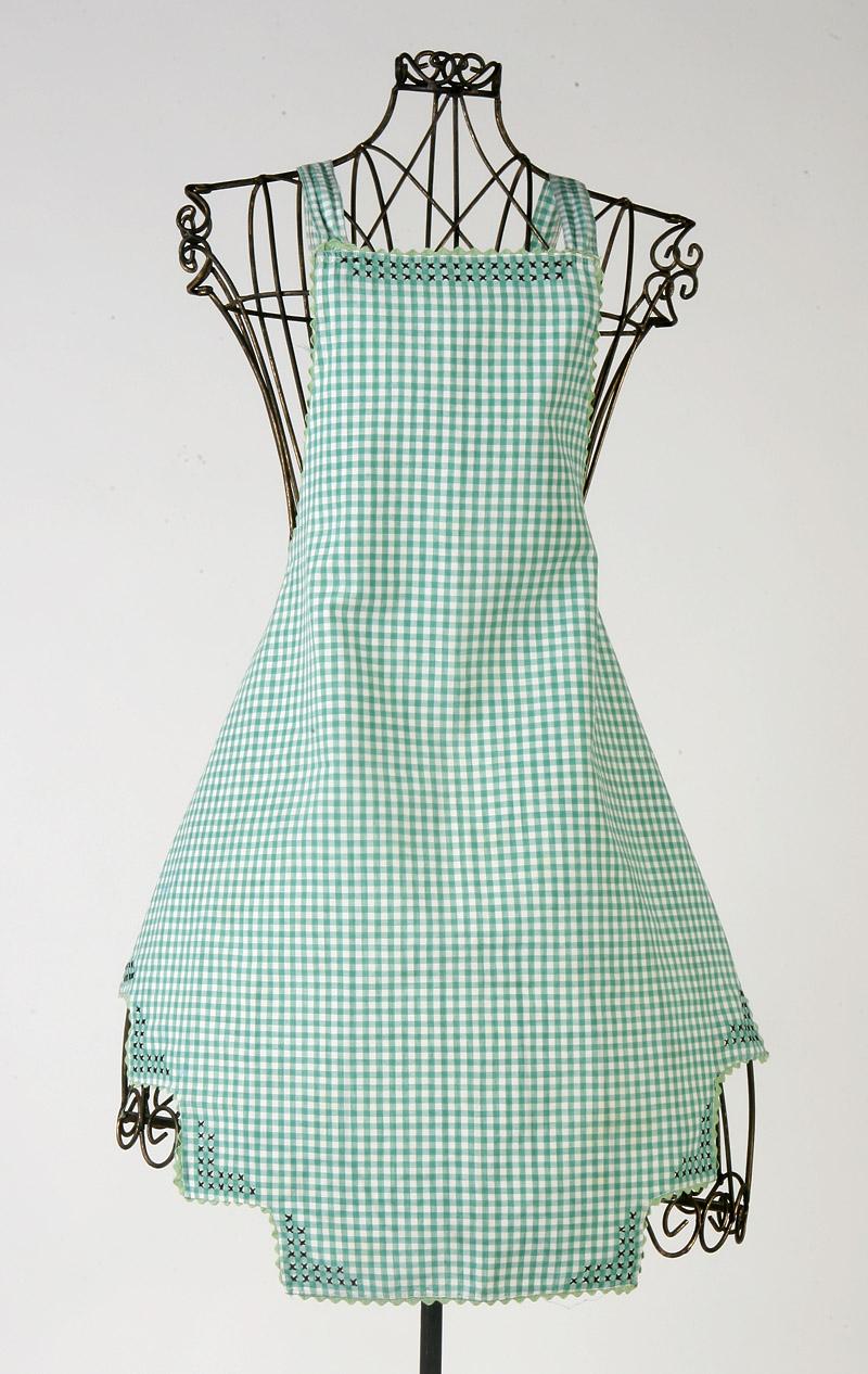 Gingham apron