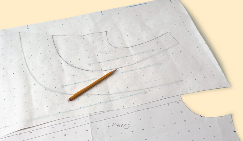 Make new pattern sections