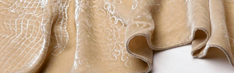 Embossed velvet scarf