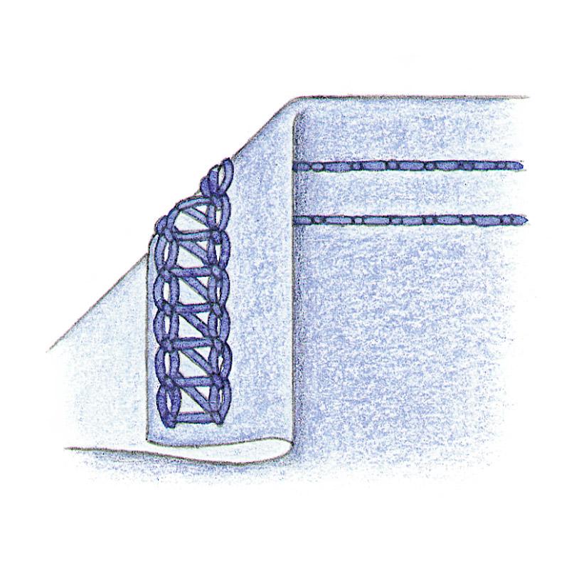 Cover-hem stitch