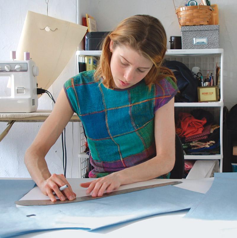 Brook DeLorme in her studio