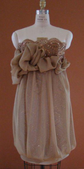 Chiffon/Beaded Tulle Dress