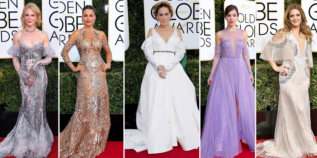 2017 golden globes red carpet trends