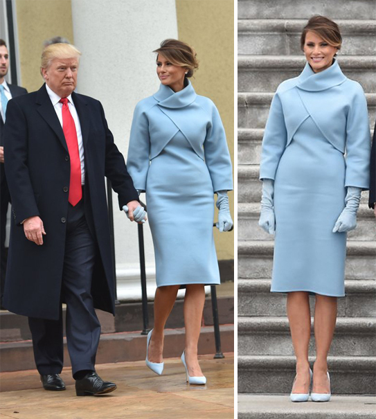 The Trumps Inauguration Day 2017 blue dress