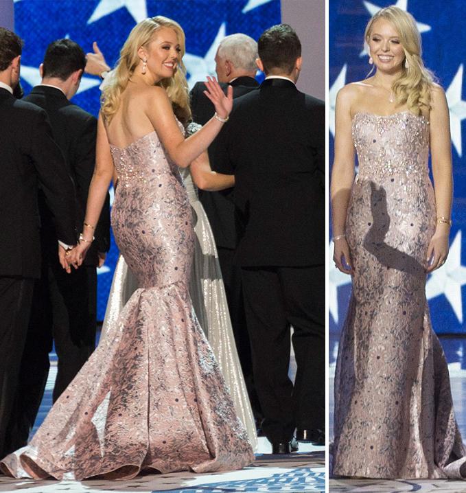 tiffany trump inaugural gown