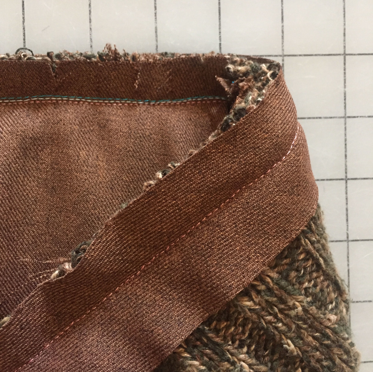 Sew the bias strip to the collar and neckline
