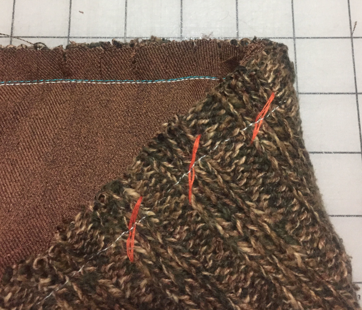 Stitch the basted collar