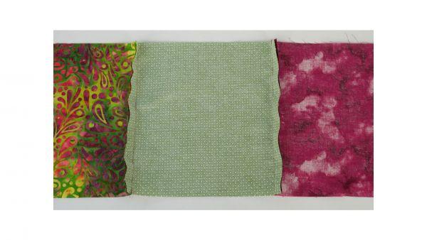 Fabric squares unpresssed