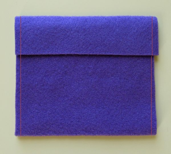 Sew pouch sides
