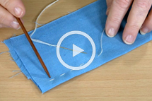 running stitch topstitching